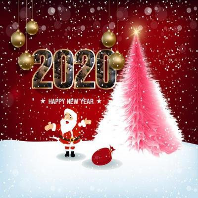 Pngtree happy new year 2020 merry christmas of the rat image 315040